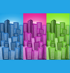 cityscape backgrounds set vector image vector image