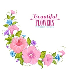 Color garland of flowers vector