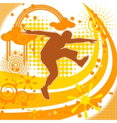 Fancy background with the silhouette of a man eps1 vector image vector image