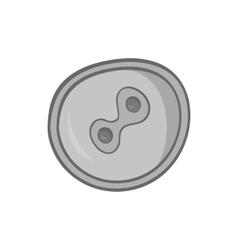 Fertilized egg icon black monochrome style vector