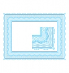 guilloche border for diploma vector image vector image