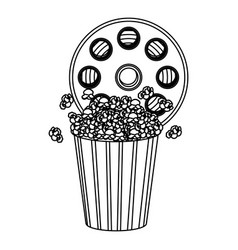Movie film clipart with pop corn icon vector