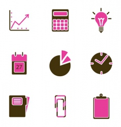 office object icon vector image vector image