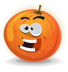 Orange fruit character vector