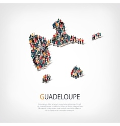 People map country guadeloupe vector