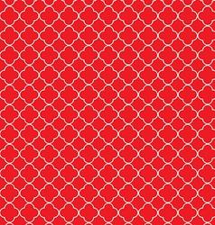 Quatrefoil red vector