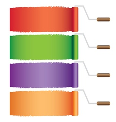 Rollers with colors vector image vector image