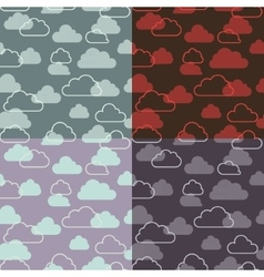 seamless pattern of clouds on sky vector image
