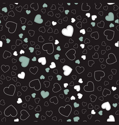 seamless pattern with heartsromantic pattern vector image