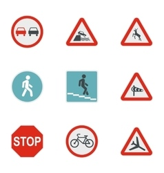 Sign icons set flat style vector image vector image