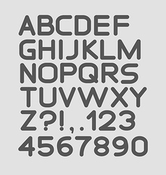 Strict alphabet rounded Isolated on white vector image vector image