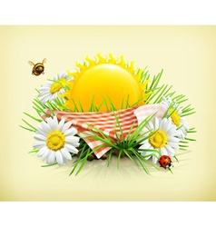 Summer time for a picnic nature outdoor recreation vector