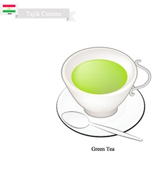 Tajik green tea popular drink in tajikistan vector