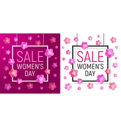 womens day frame sale march 8 vector image vector image