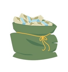 Bag money sack business dollar icon graphic vector