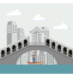 Venice italy culture isolated vector