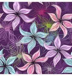 seamless easter floral pattern vector image