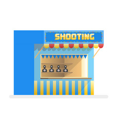 cartoon shooting gallery amusement park vector image
