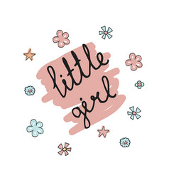 little girl typography little girl typography vector image