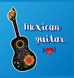 Beautiful mexican guitar vector
