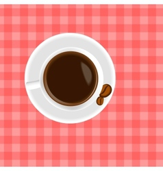 A cup of coffee on the table vector image