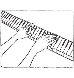 Pianist hands vector