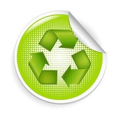 Recycle Label vector image