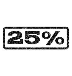25 percent watermark stamp vector