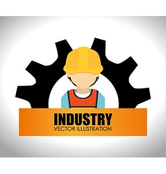Industry design over white background vector
