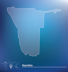 Map of namibia vector