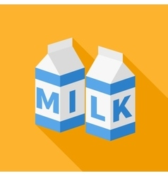Milk flat icon vector