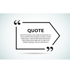 Quote blank template bubble empty design vector image