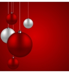 Modern red christmas balls background vector
