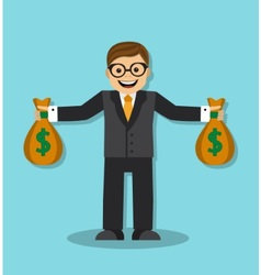 Successful and wealthy businessman vector