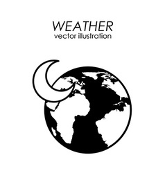 Earth planet climate design vector