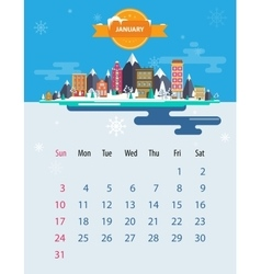 Calendar of january vector