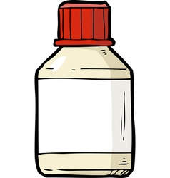 Vial of pills vector