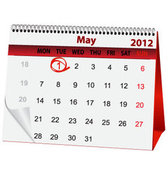 Holiday calendar for 1 may vector