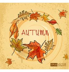 autumn vs vector image