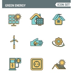 Icons line set premium quality of eco friendly vector
