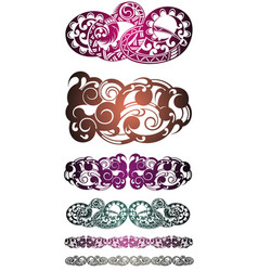 abstract tribal tattoo patterns vector image