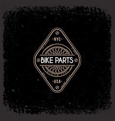 bike parts label vector image vector image
