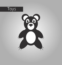 Black and white style icon toy bear vector