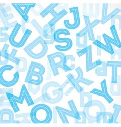 Blue alphabet background vector