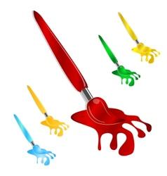 brush symbol set vector image
