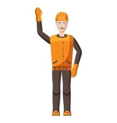 Builder icon cartoon style vector image