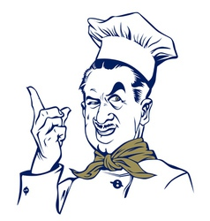 cartoon style cook man smile vector image