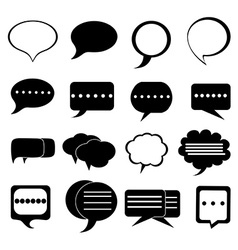 Chat bubble icons set vector