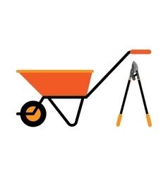 Construction wheelbarrow vector