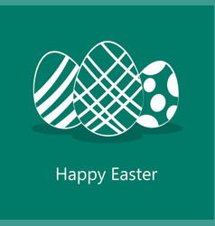 easter eggs icons vector image